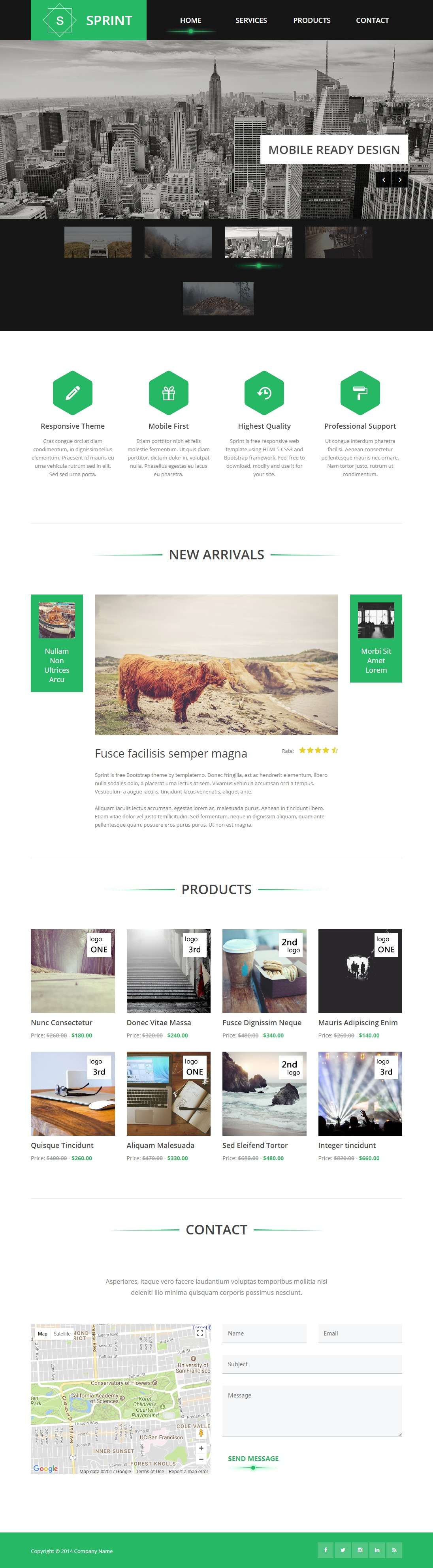 Sprint-Bootstrap-Website-Design