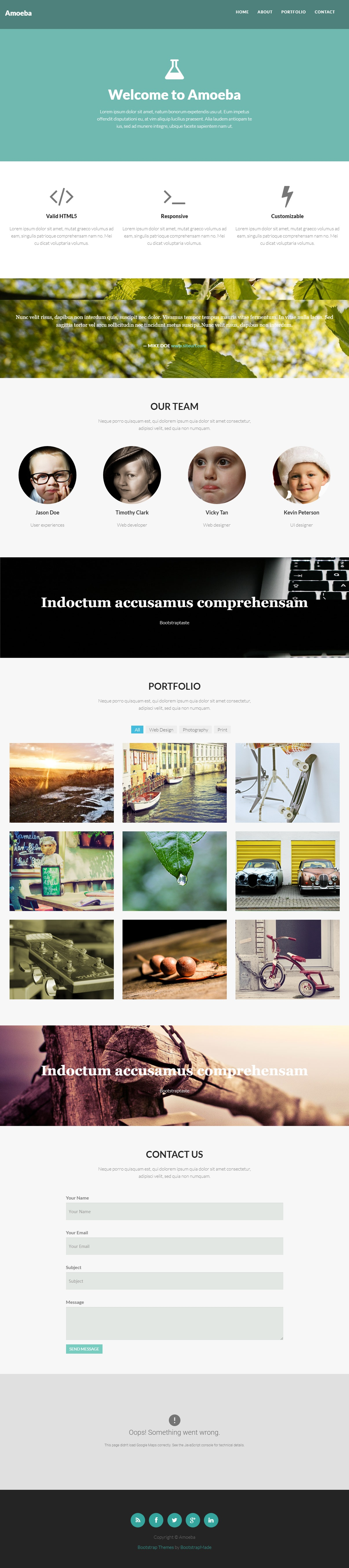 Amoeba-free-one-page-responsive-bootstrap-site-template