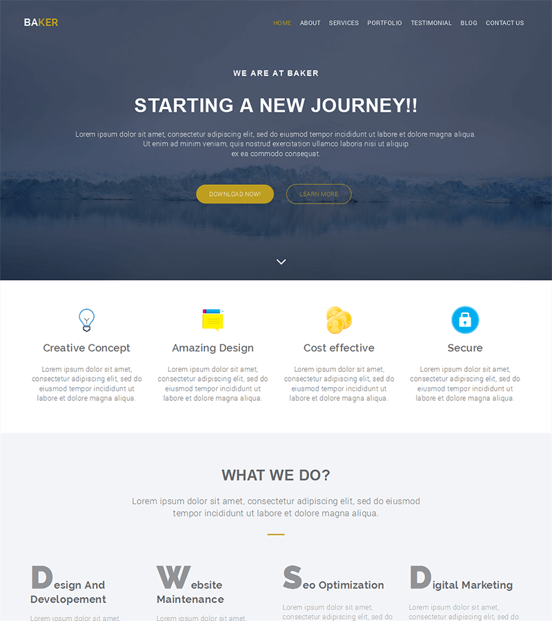 A creative free bootstrap html5 template agencies
