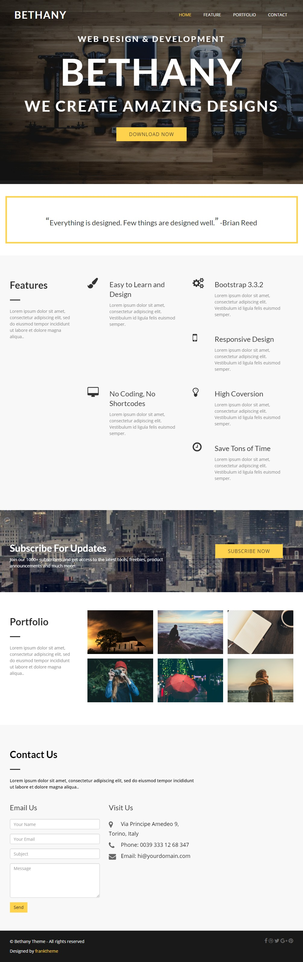 Bethany-Bootstrap-Theme