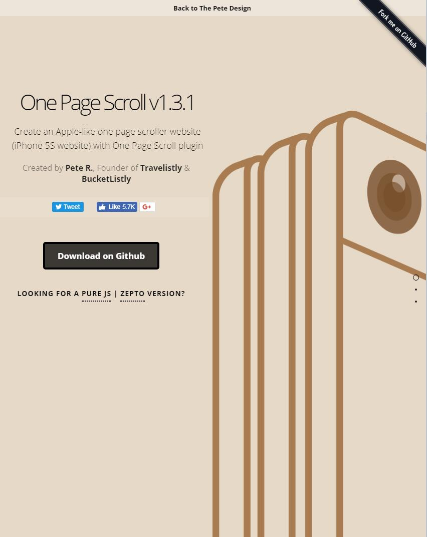 Create an Apple-like one page scroller website with One Page Scroll