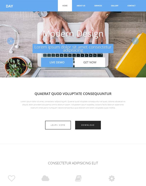 A multipurpose Bootstrap HTML template