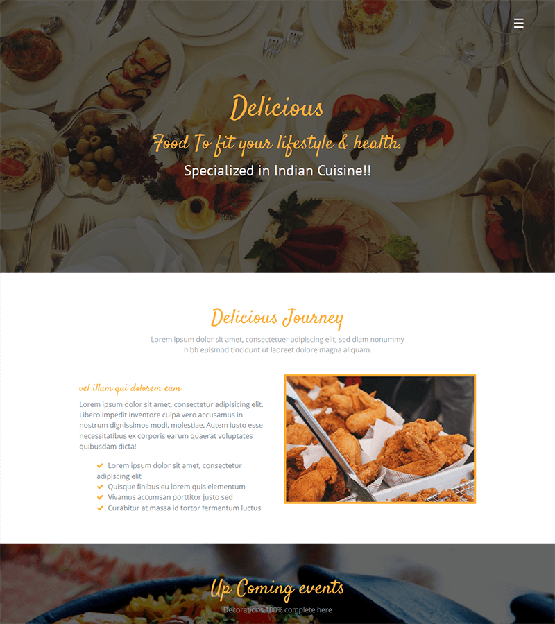 free bootstrap template is focused for Cafe or coffee shop
