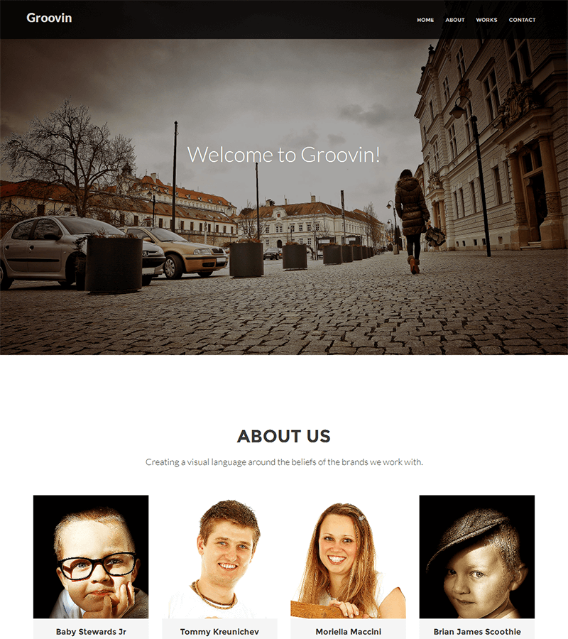 A modern and young stylish bootstrap one page template