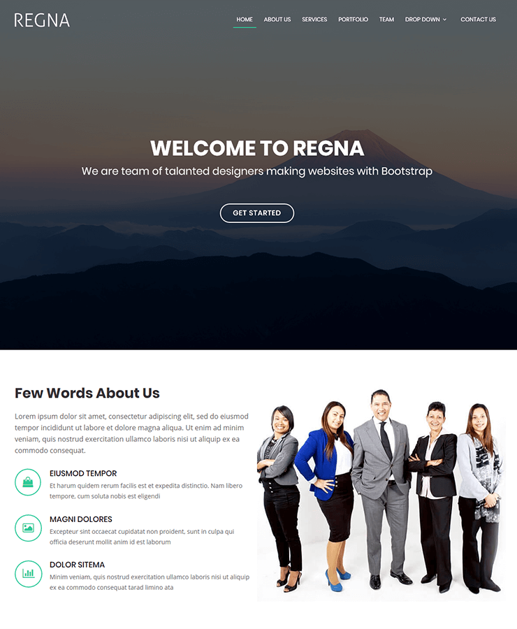 A sleek Bootstrap 4 template designed for any type of business