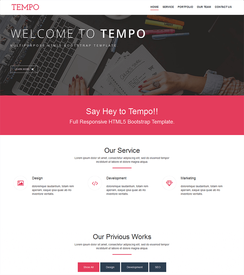 beautiful color schemes and easy customize bootstrap theme