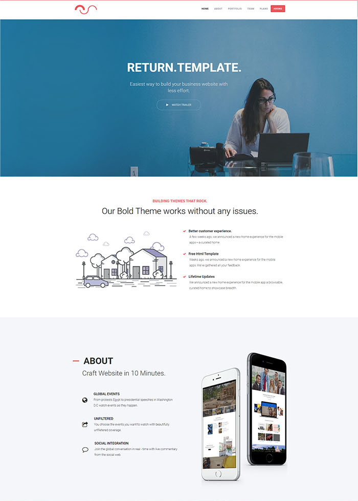 A powerful business html5 template handcrafted
